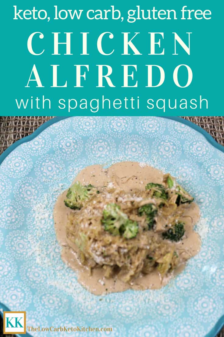 Chicken Alfredo with Spaghetti Squash