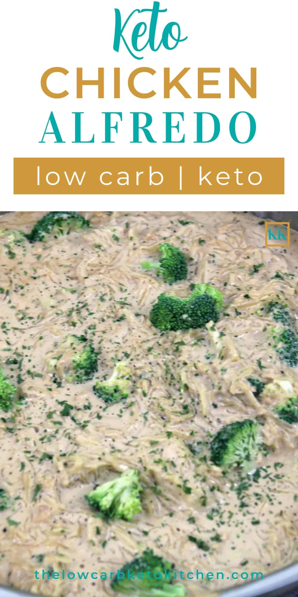 Keto Chicken Alfredo with Spaghetti Squash