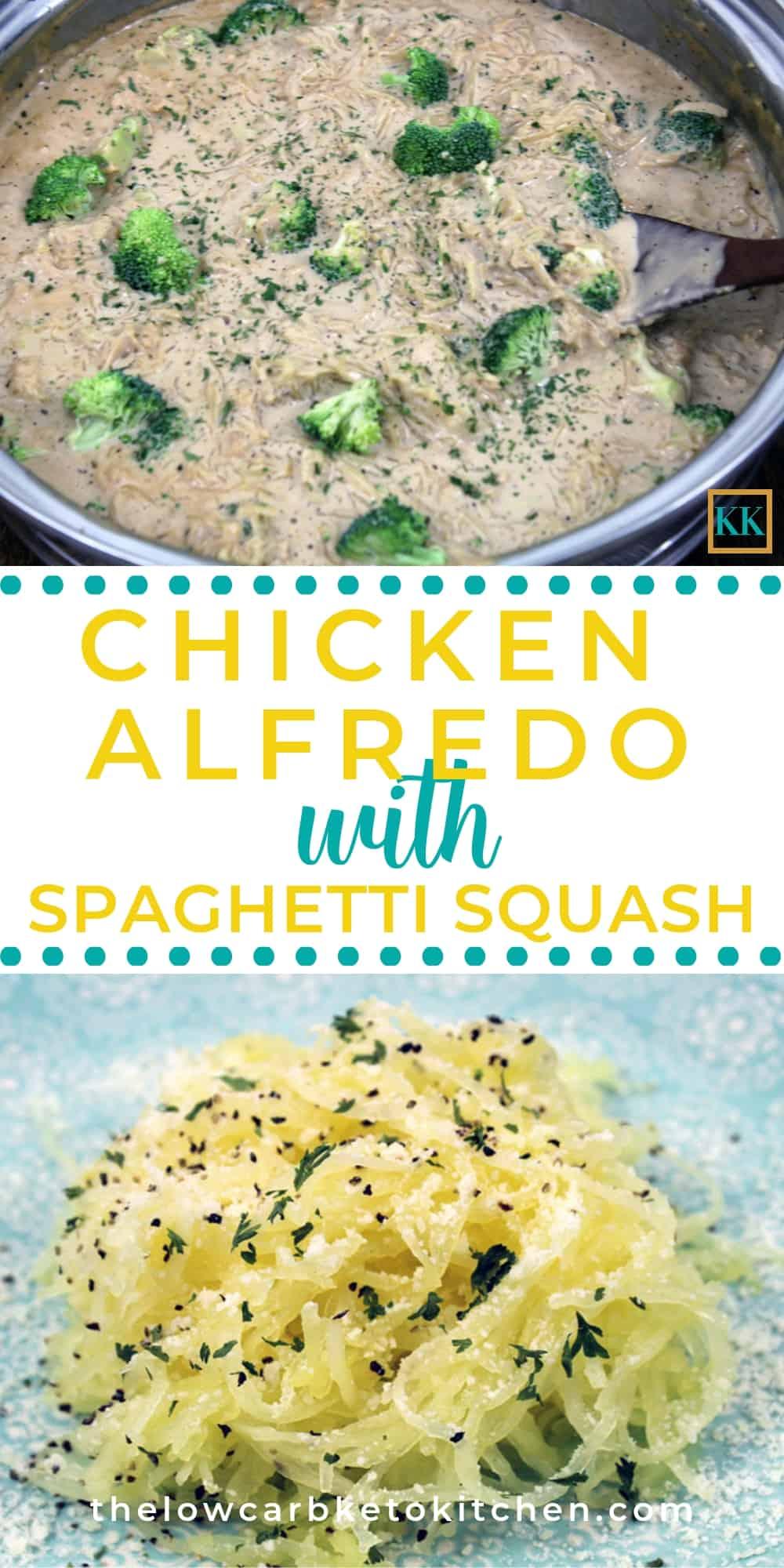 Keto Chicken Alfredo with Spaghetti Squash