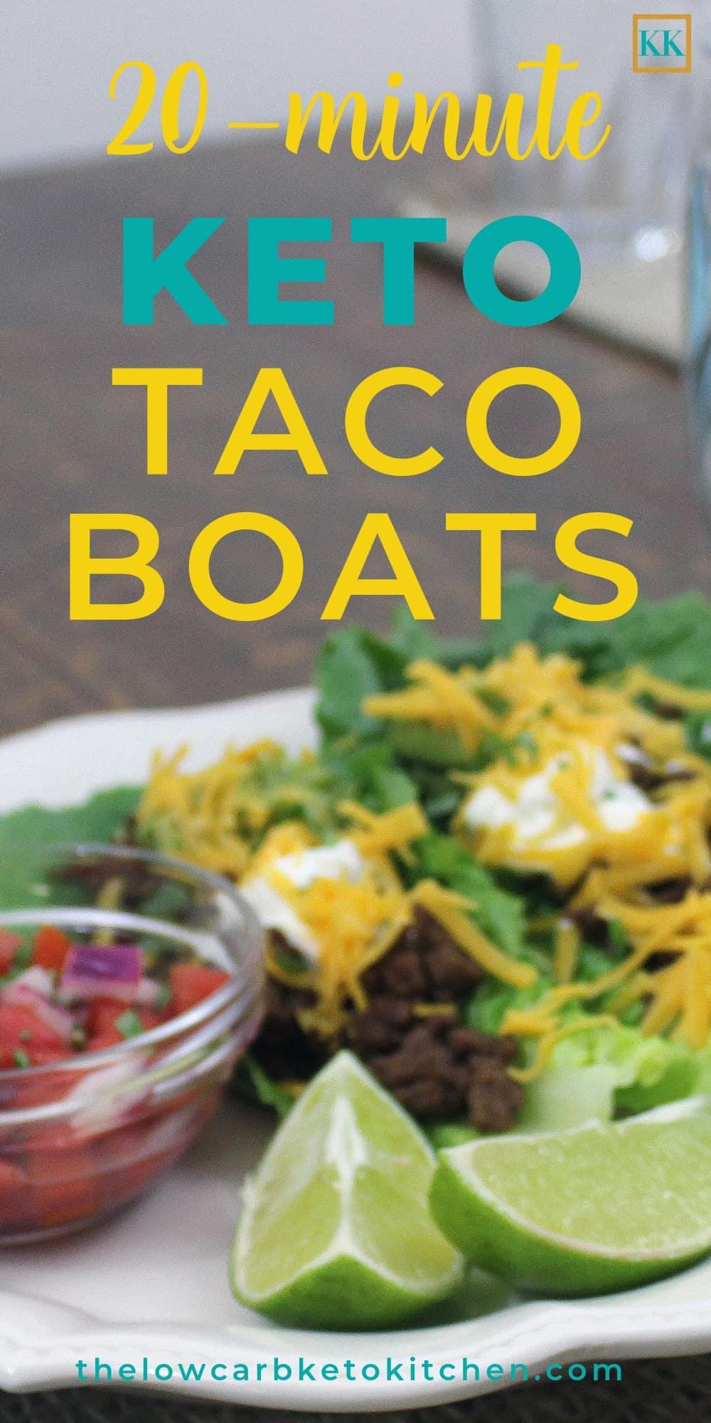 Easy 20-Minute Keto Taco Boats