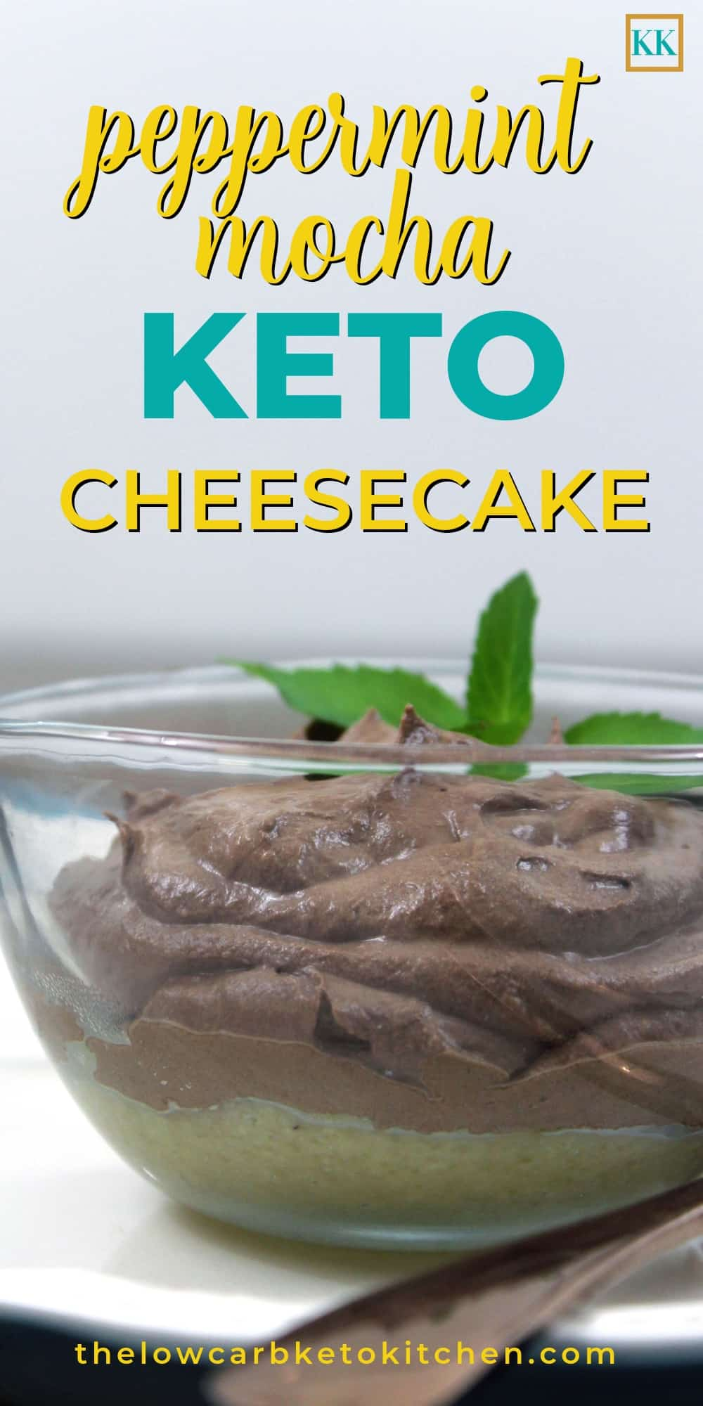 No-Bake Keto Peppermint Mocha Cheesecake