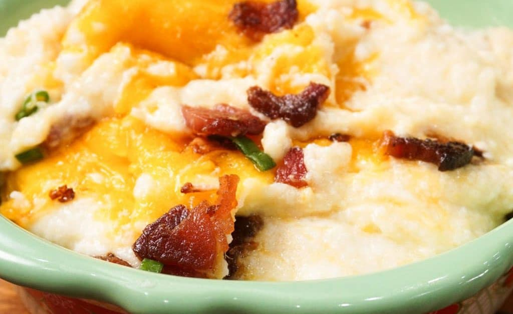 Loaded Mashed Cauliflower Casserole