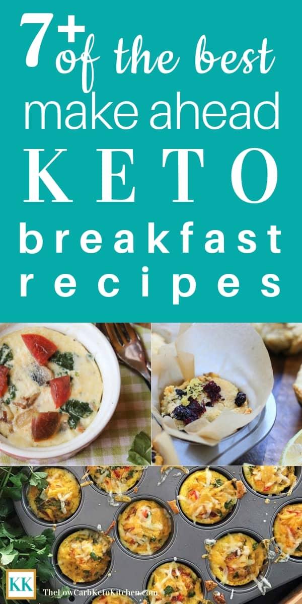 Make Ahead Keto Breakfast Recipes