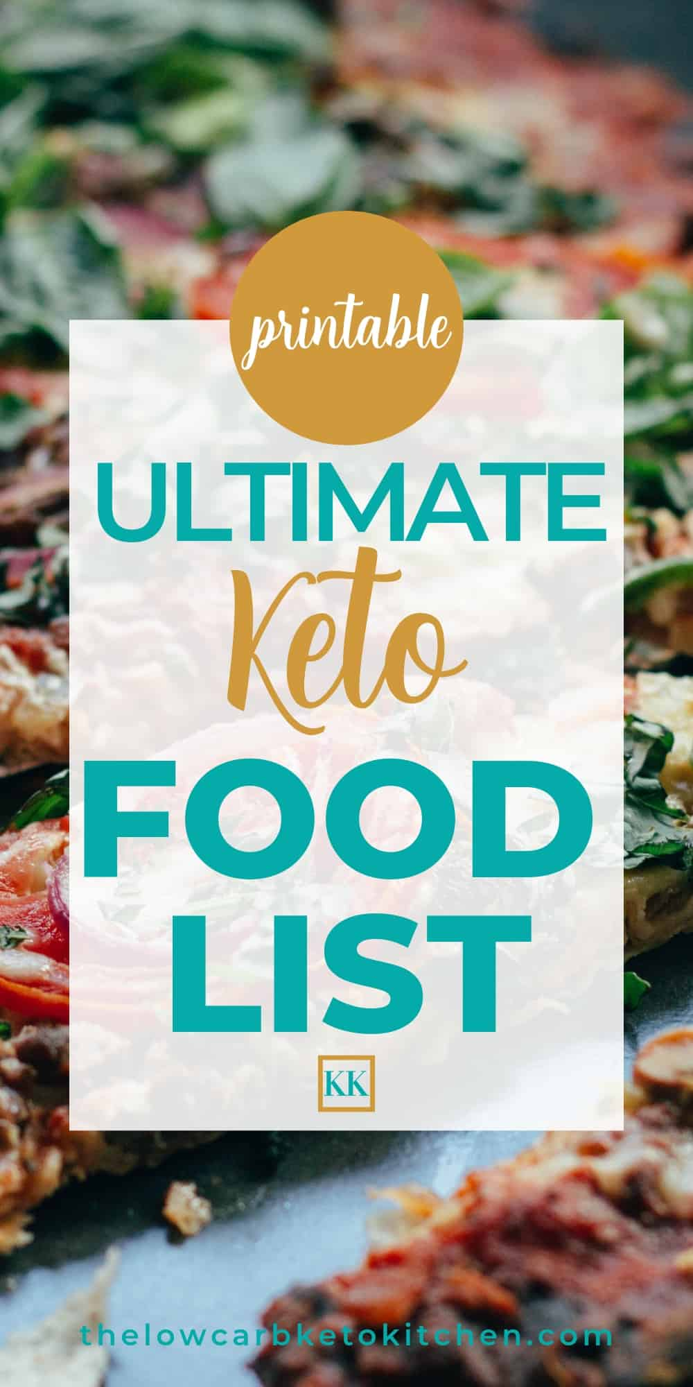 image regarding Free Printable Keto Food List known as The Supreme Keto Meals Checklist with Printable