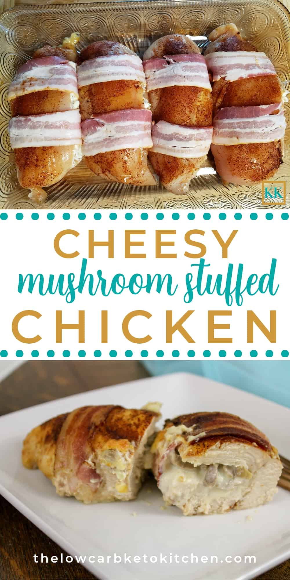 Cheesy Mushroom Stuffed Chicken Breasts