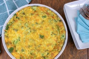 Keto Broccoli Cheddar Quiche