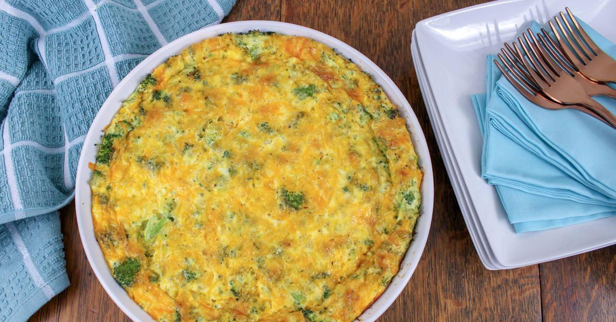 Keto Broccoli Cheddar Quiche