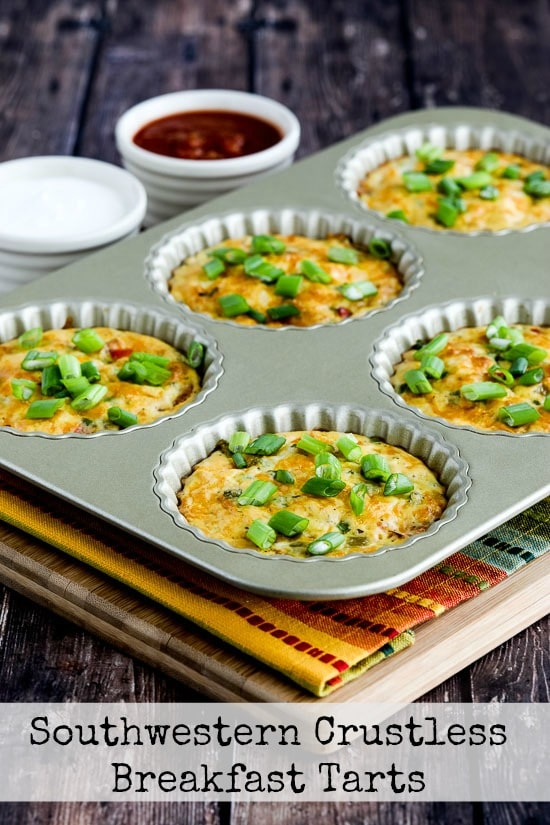 Southwestern Low-Carb Crustless Breakfast Tarts