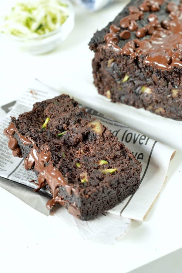 Paleo chocolate zucchini bread keto + sugar free