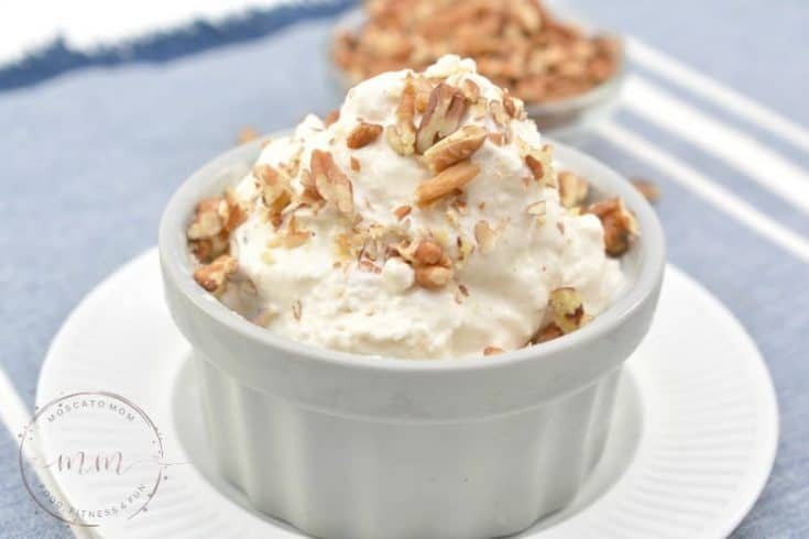Simple Keto Ice Cream - Maple Pecan