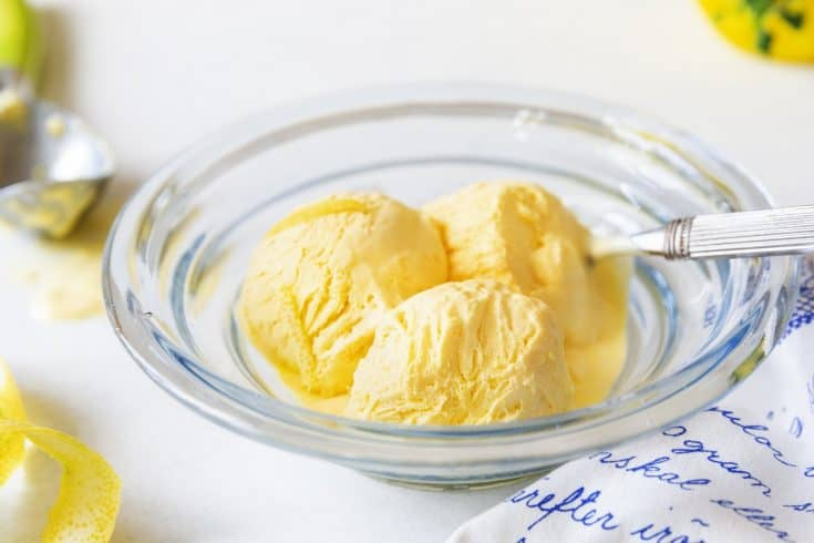 Keto Lemon Ice Cream - Sugar-Free Summer Dessert
