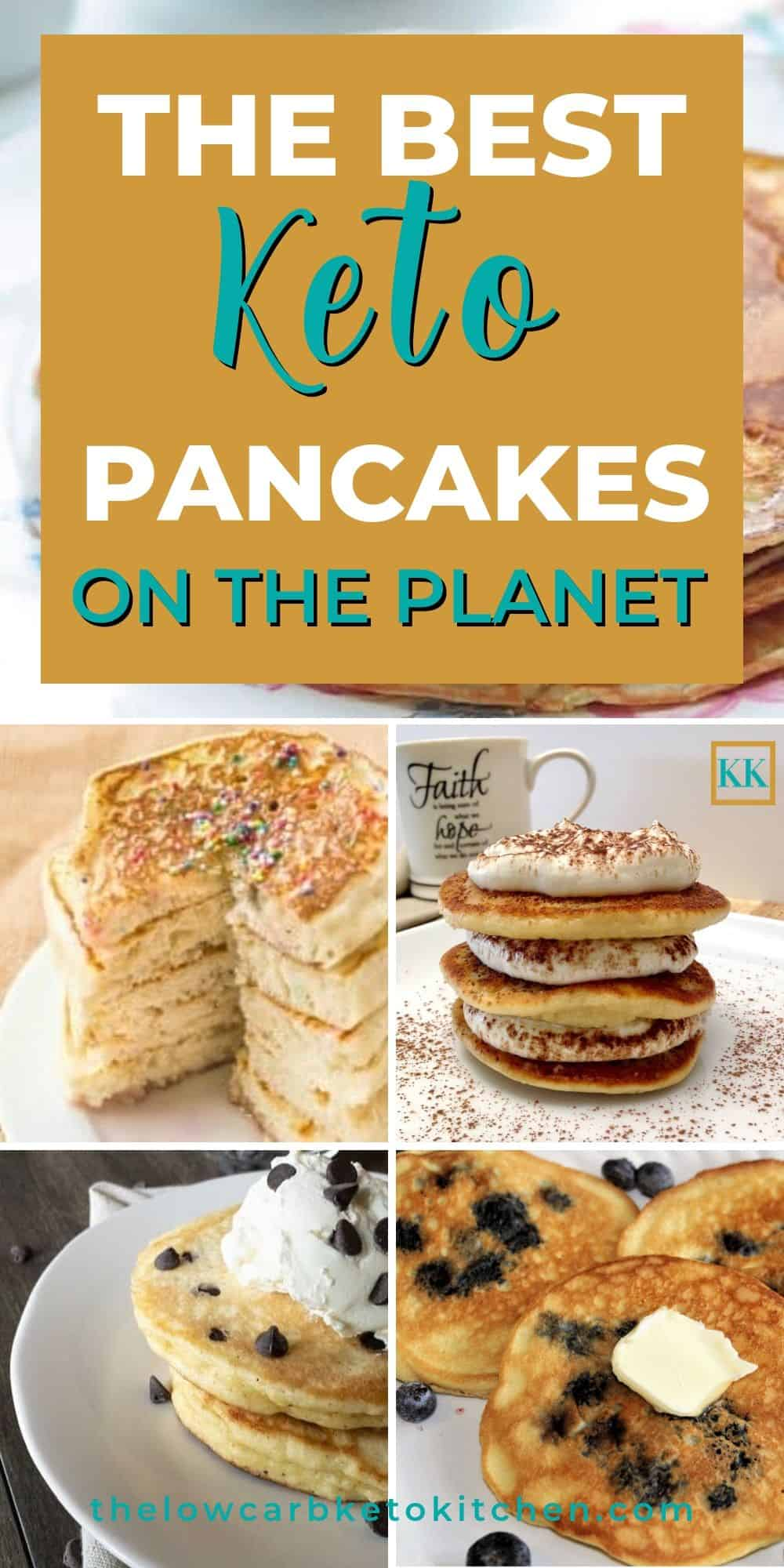 Keto Pancake Photo Collage