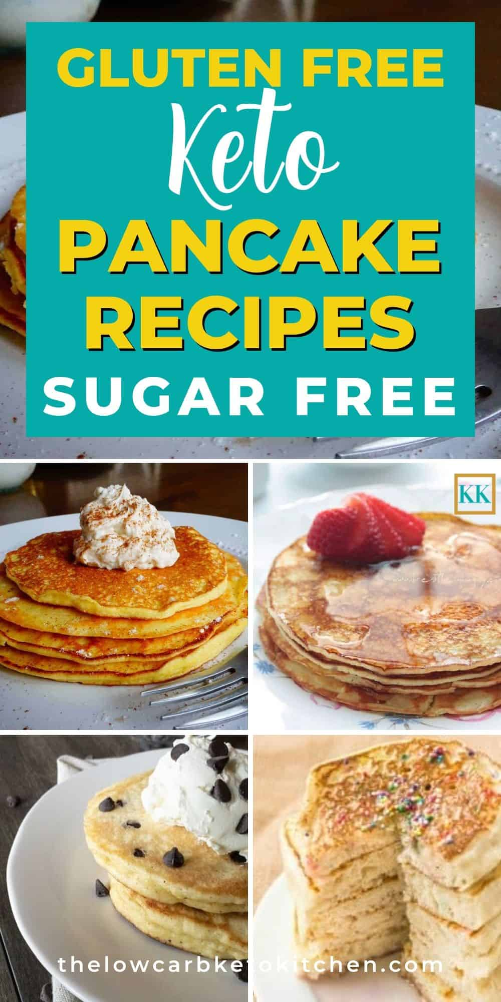 Keto Pancake Picture Collage